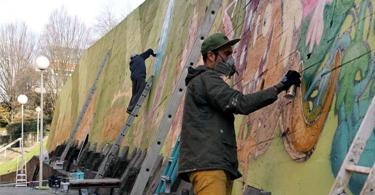 arrigorriaga abusu olatxu 2017 aztarnak murala