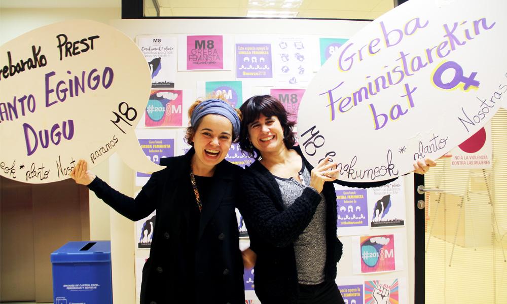 basauri m8 greba feminista 2018 biki pozo eta iraia biteri elkarrizketa