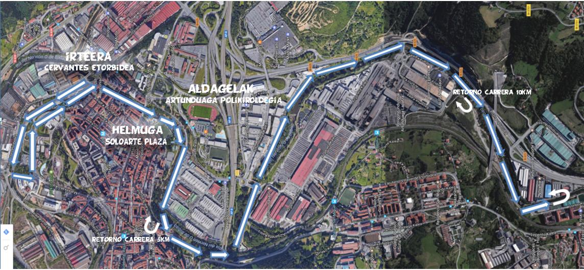 basauri maratoi erdia 2017 mapa