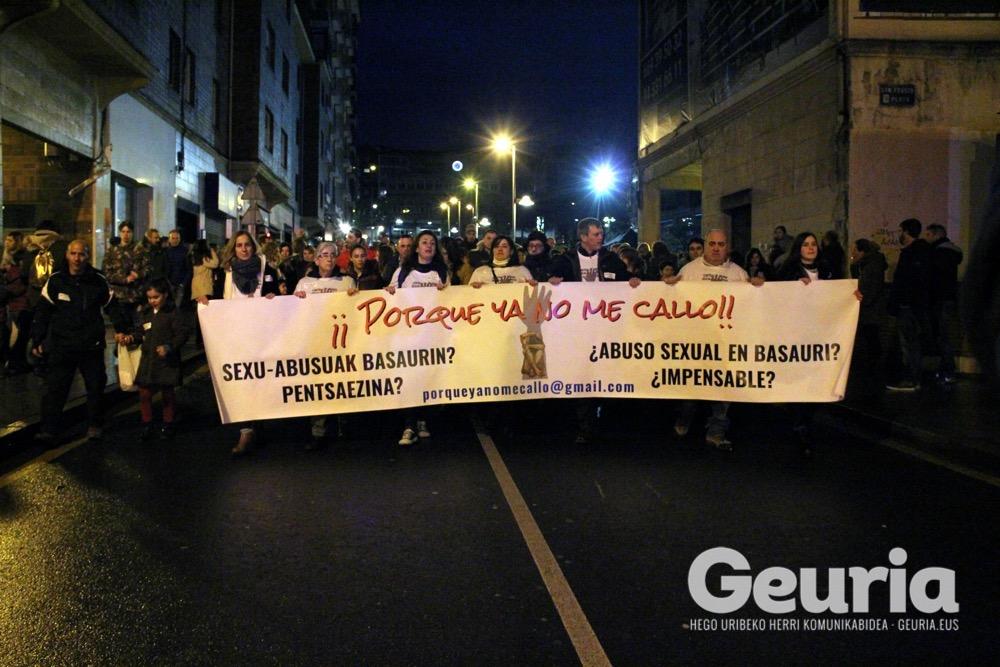 basauri sexu abusuen kontra manifestazioa 2019 urtarrila 1