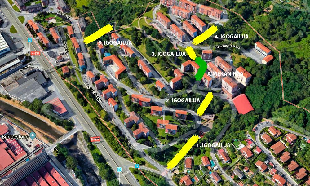 galdakao aperribai 2018 igogailuak proiektua google maps