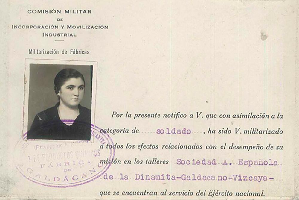 galdakao dinamita fabrika 2018 emakumeak soldadu isabel uriarte urruticoechea 1937 altuna uriarte familia