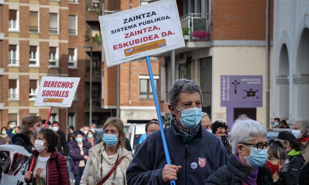 Momento de la manifestación. Foto: geuria.eus