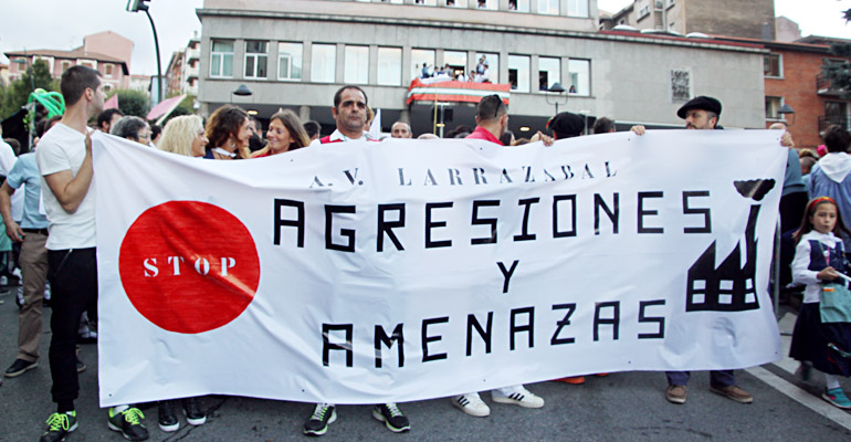 Basauri Larrazabal Protesta Jaiak