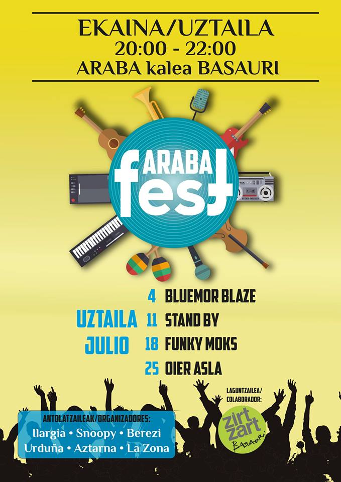 basauri arabafest musika uztaila kartela 2015