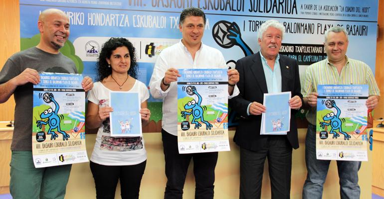 basauri hondartza eskubaloi solidarioa 2015