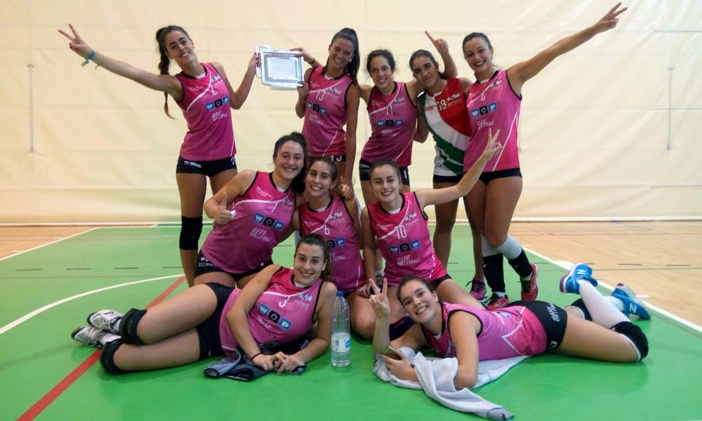 galdakao boleibol taldea 2017 bizkaia kopa txapeldunak ARGAZKIA galdakao bt
